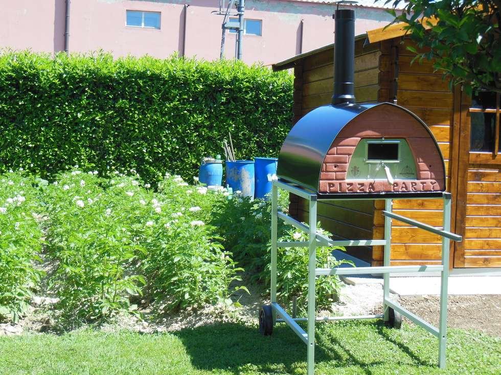 Forno Pizza Party Pizzone: il forno a legna da 4 pizze - Utilizza il tuo nuovo forno a legna per pizza arrosti pane e dolci: Giardino in stile in stile Rustico di Pizza Party