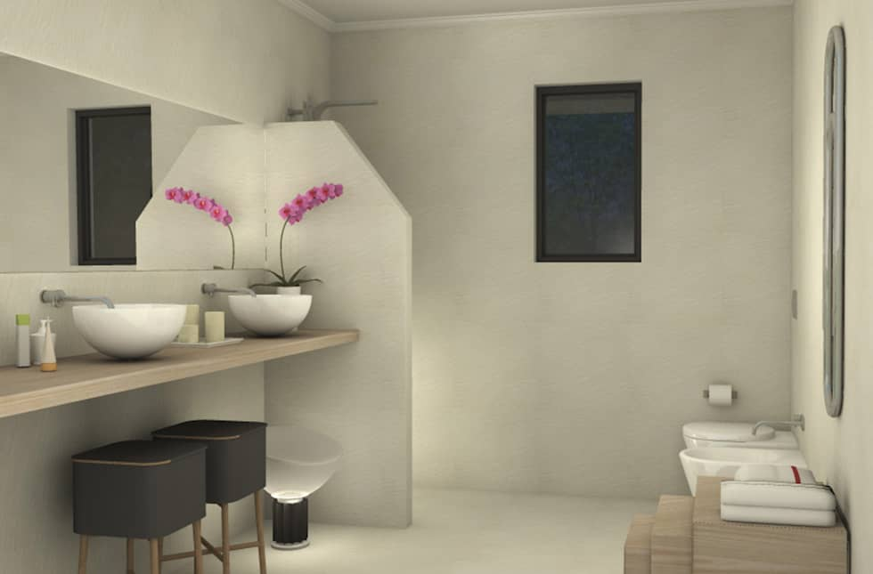 Villa unifamiliare Sydney_Australia_2013: Bagno in stile in stile Moderno di Valentina Cassader