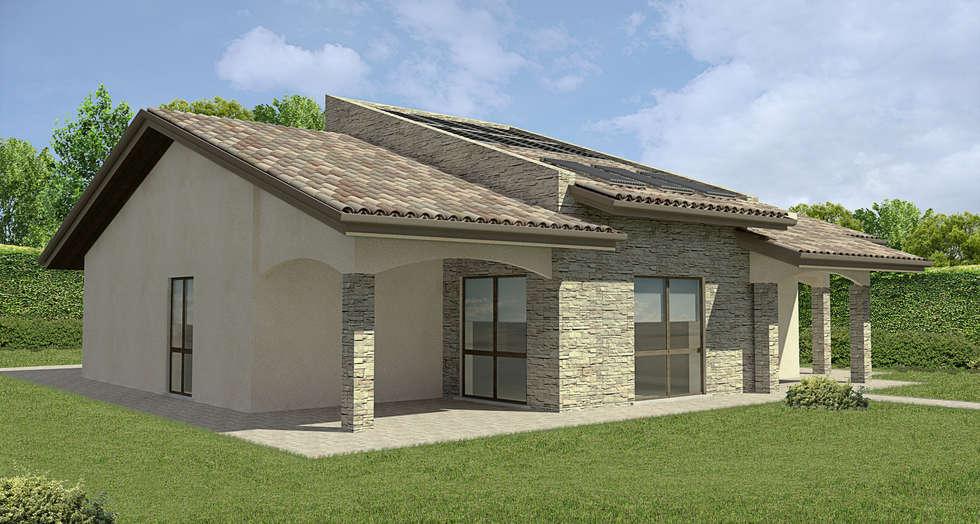 Villa unifamiliare_Como_2015: Case in stile in stile Classico di Valentina Cassader