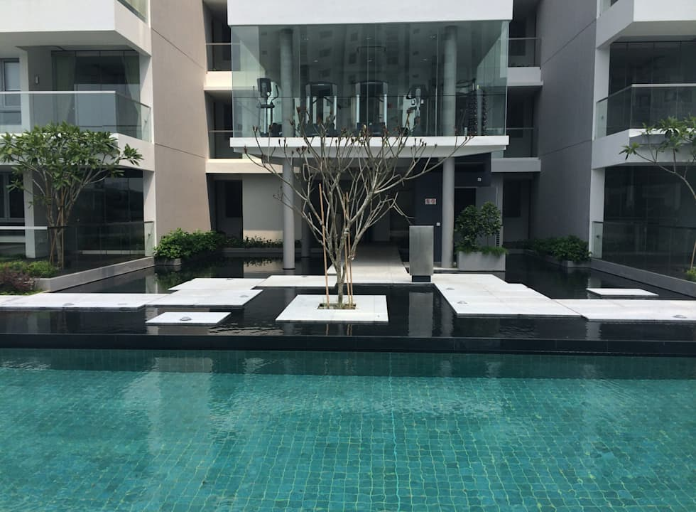 Gilstead Two: tropical Garden by Tinderbox  Landscape Studio