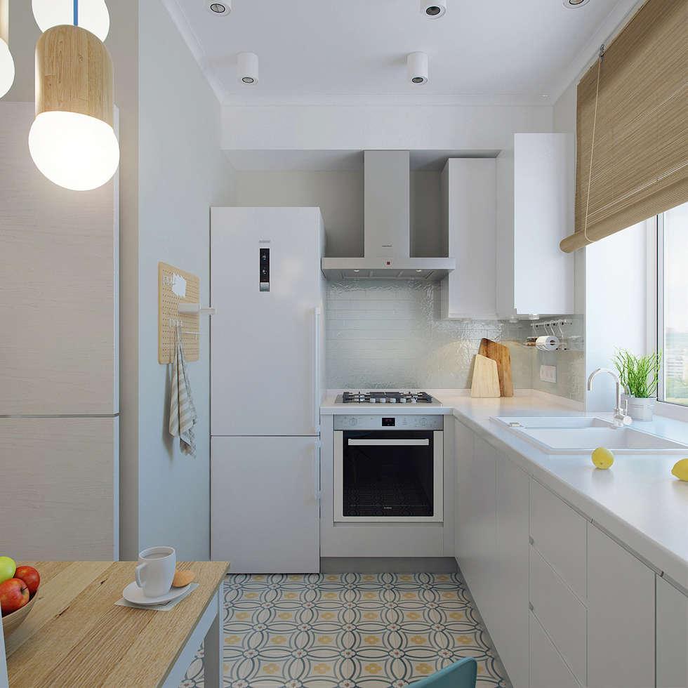 scandinavian Kitchen by Ekaterina Donde Design