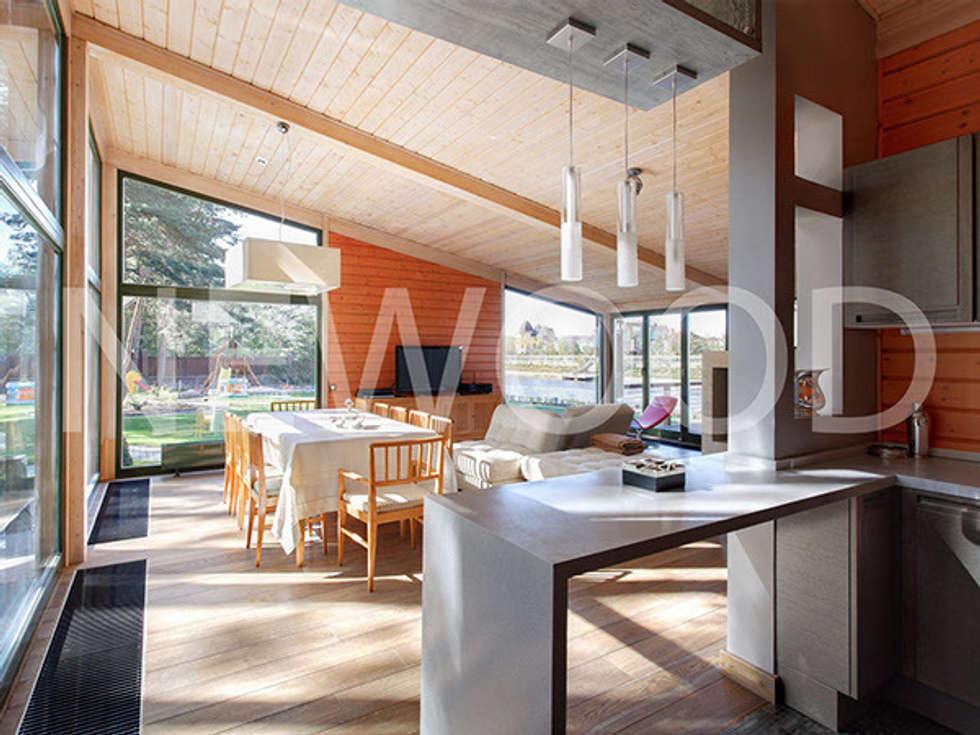 Скандинавия 150: Столовые комнаты в . Автор – NEWOOD - Современные деревянные дома