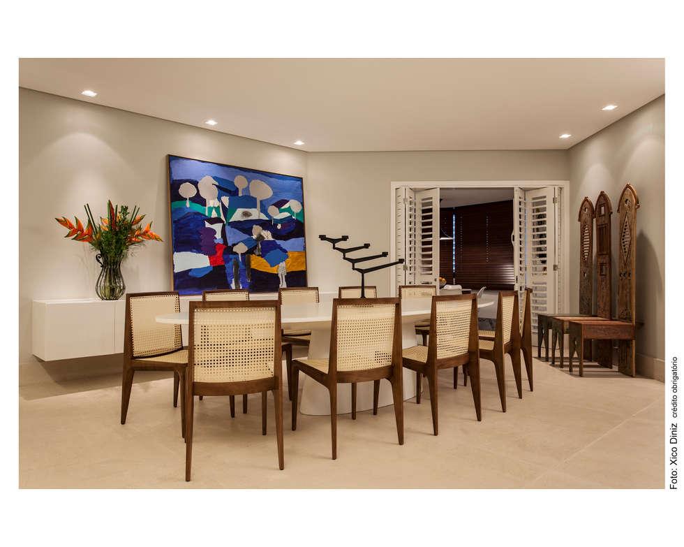 Sala de Jantar: Salas de jantar ecléticas por Arquitetura 3