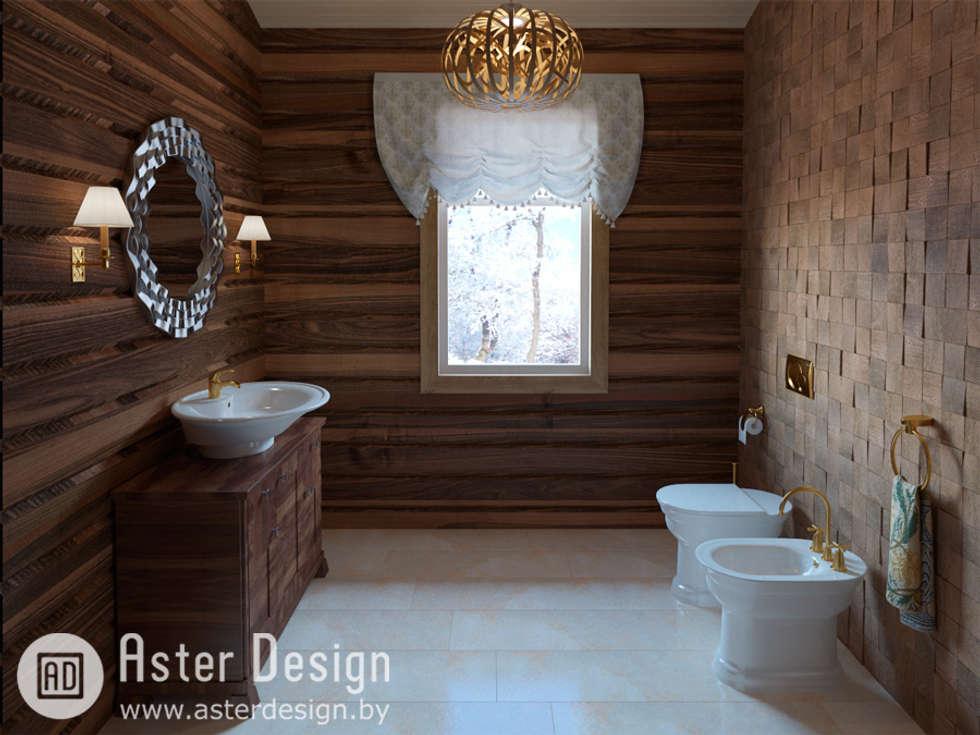 Для гостей: Ванные комнаты в . Автор – ASTER DECO