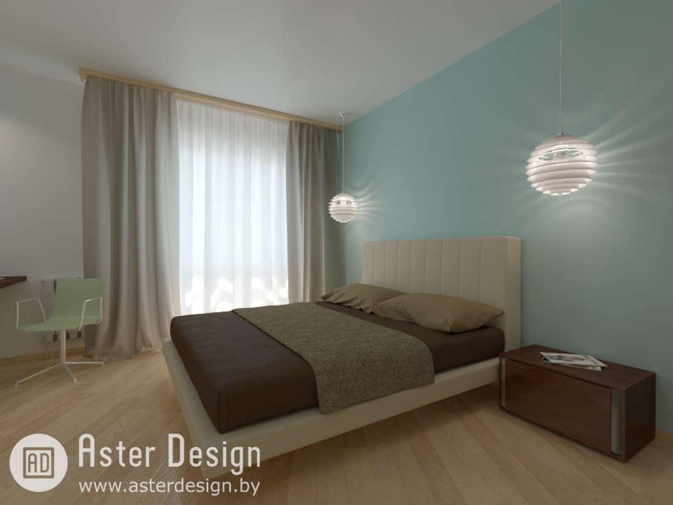 Спальная комната: Спальни в . Автор – ASTER DECO