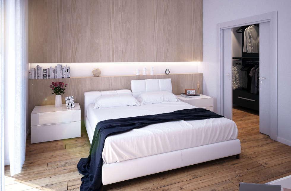 Camera da letto camera da letto in stile in stile moderno for Camere da letto arredate da architetti