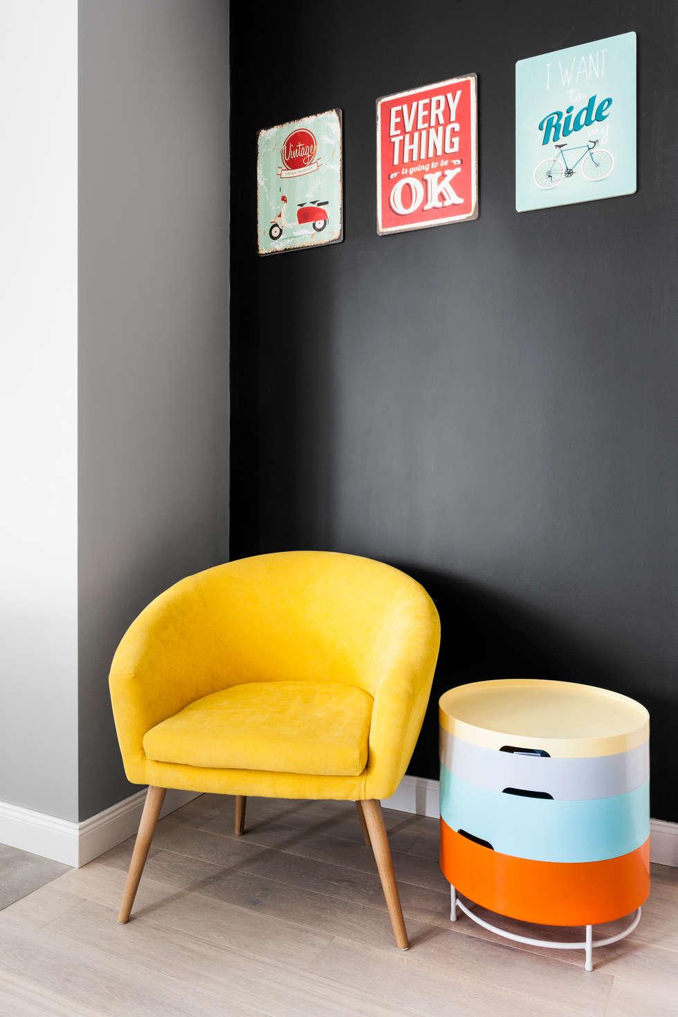 Kolory  we wnętrzu a jego ponadczasowość.: styl , w kategorii Salon zaprojektowany przez Archikąty