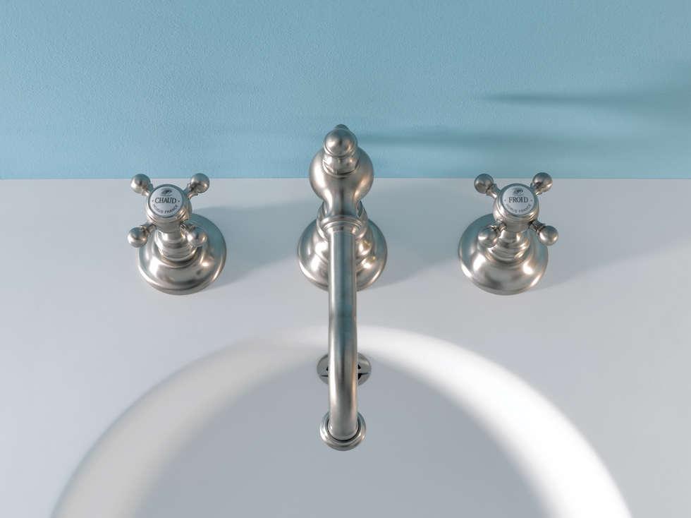 Mélangeur 3 trous lavabo Julia: Salle de bains de style  par HORUS