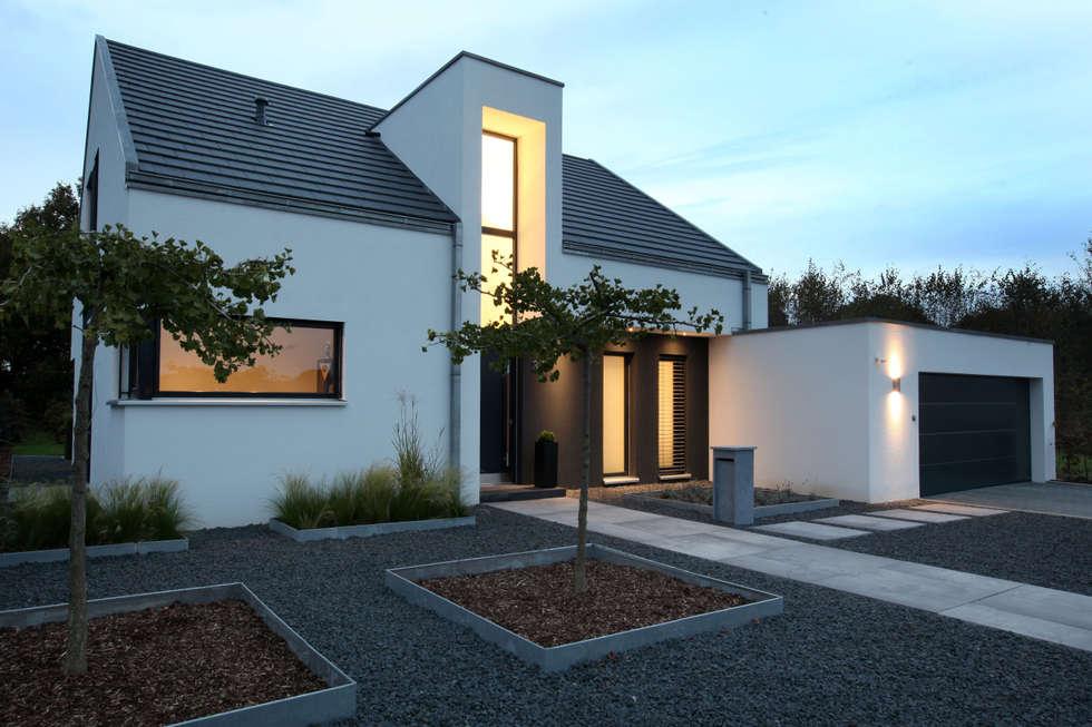 Genial Eingangsbereich Nachtaufnahme: Minimalistische Häuser Von Architektur Jansen