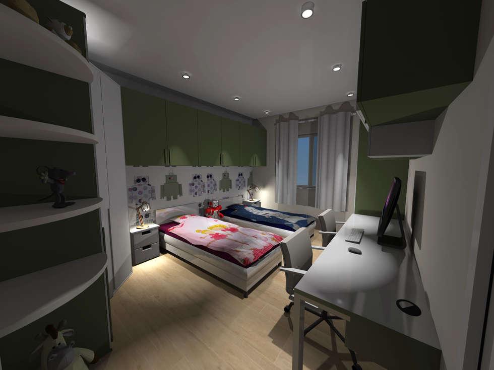 cameretta: Camera da letto in stile in stile Moderno di architè