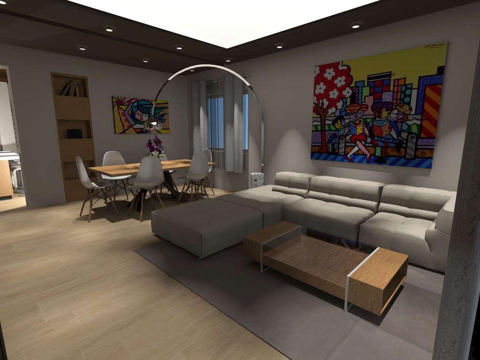 soggiorno: Soggiorno in stile in stile Moderno di architè