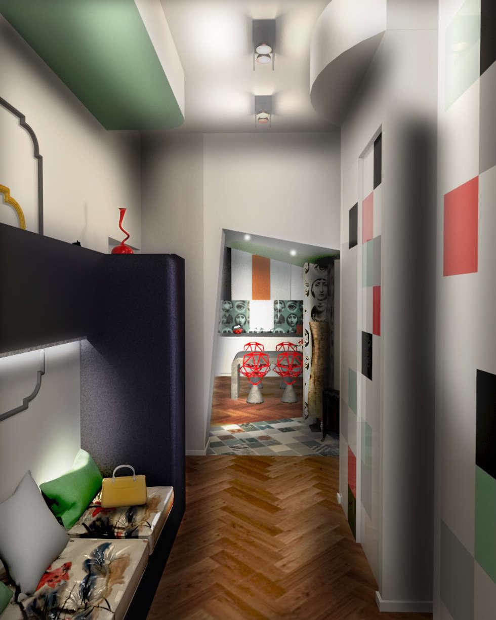 Entrée : Couloir et hall d'entrée de style  par POSITIV'AGENCEMENT