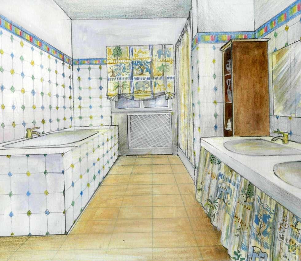 санузел: Ванные комнаты в . Автор – Территория Дизайна