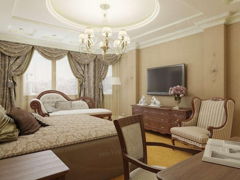 Дизайн интерьера спальни : Спальни в . Автор – Архитектурное Бюро 'Капитель'