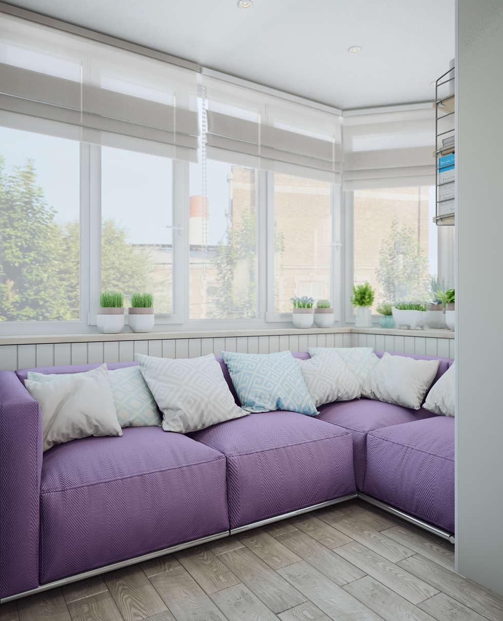 Балкон в скандинавском стиле: Tерраса в . Автор – Анна Теклюк