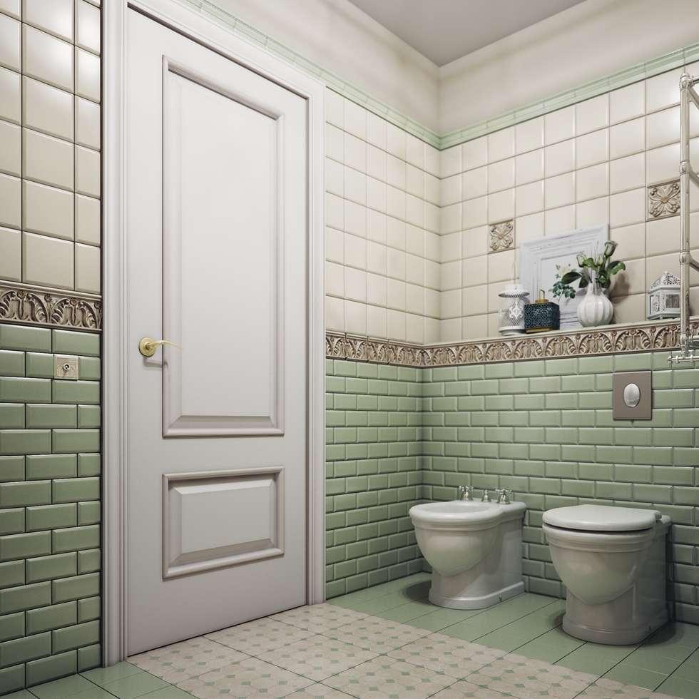 Ванная в стиле Прованс: Ванные комнаты в . Автор – Анна Теклюк