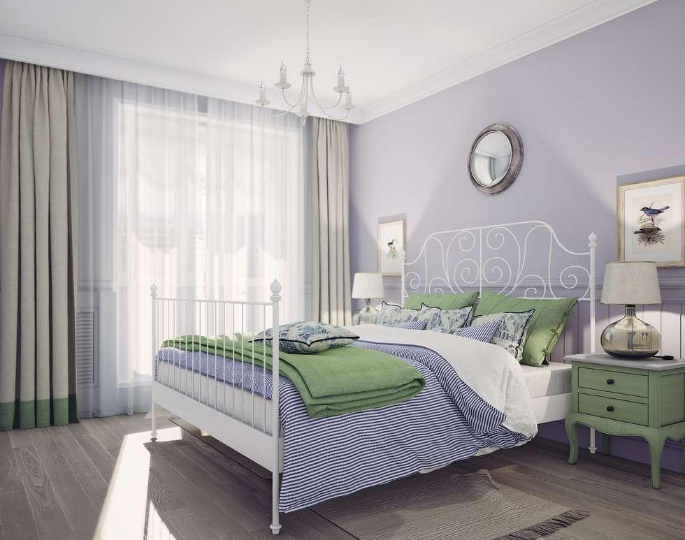Спальня в стиле Прованс: Спальни в . Автор – Анна Теклюк