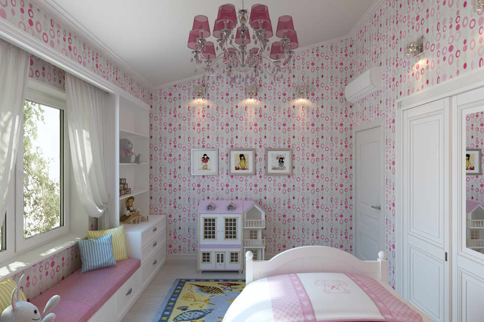 Квартира с мансардой: Детские комнаты в . Автор – Александра Кудрявцева