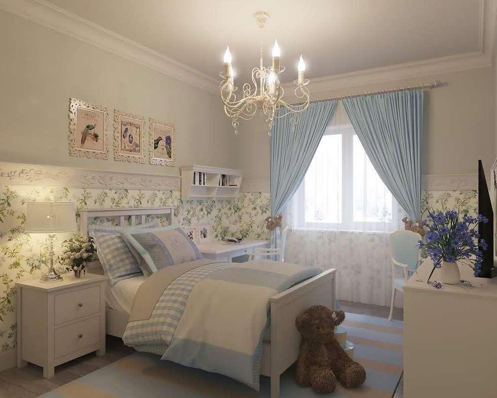 Квартира на ул. Мосфильмовская: Детские комнаты в . Автор – Tina Gurevich