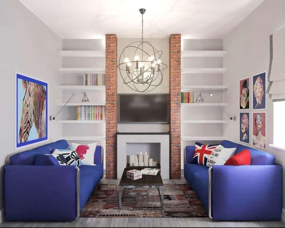 Квартира на ул. Мосфильмовская: Гостиная в . Автор – Tina Gurevich