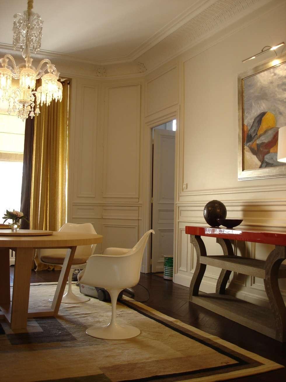 appartement haussmannien paris viii salle manger de style de style classique par christine fath