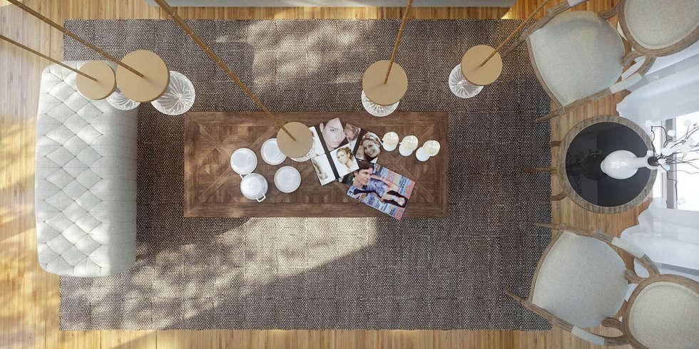 Ali İhsan Değirmenci Creative Workshop – Özgün Salon Tasarımı (Living Room): klasik tarz tarz Oturma Odası