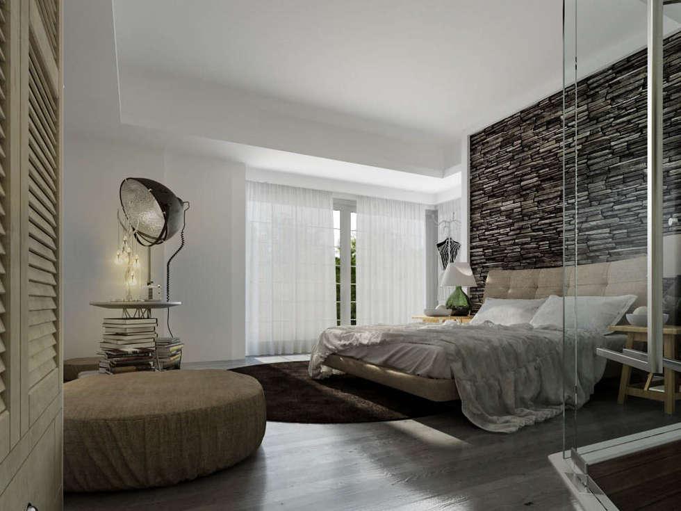Ali İhsan Değirmenci Creative Workshop – Yatak Odası (Bed Room): modern tarz Yatak Odası