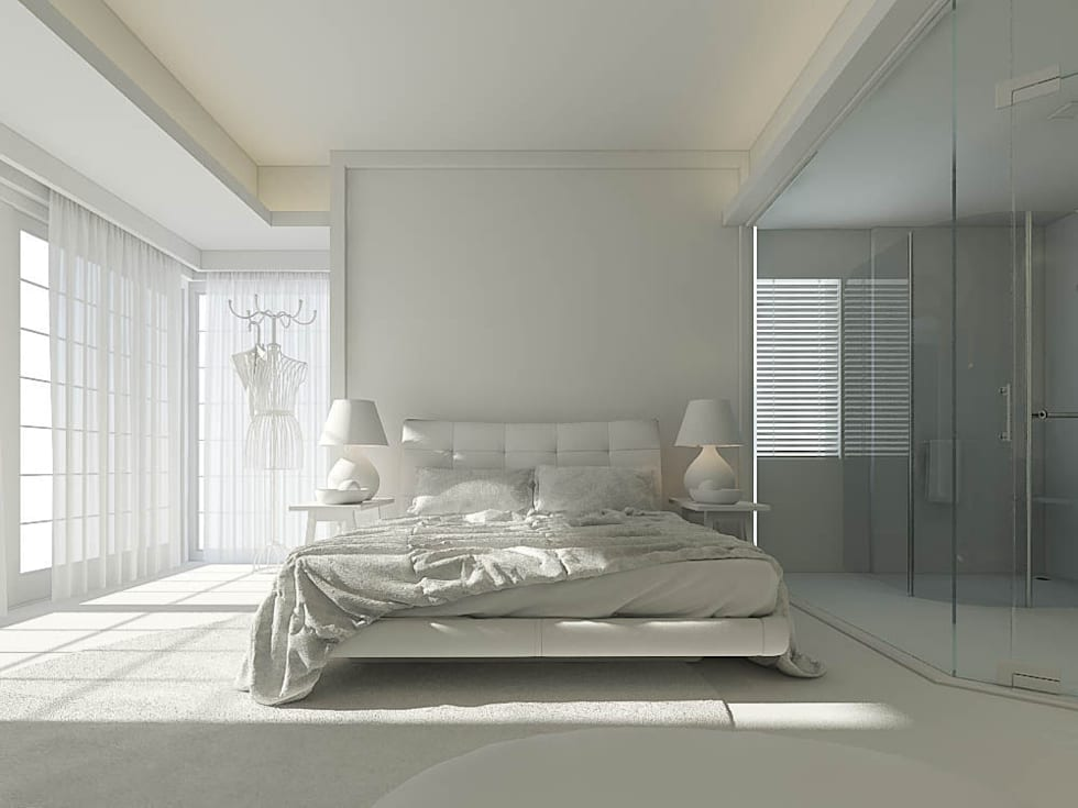 Ali İhsan Değirmenci Creative Workshop – Yatak Odası (Bed Room) - Model ham hali: modern tarz Yatak Odası