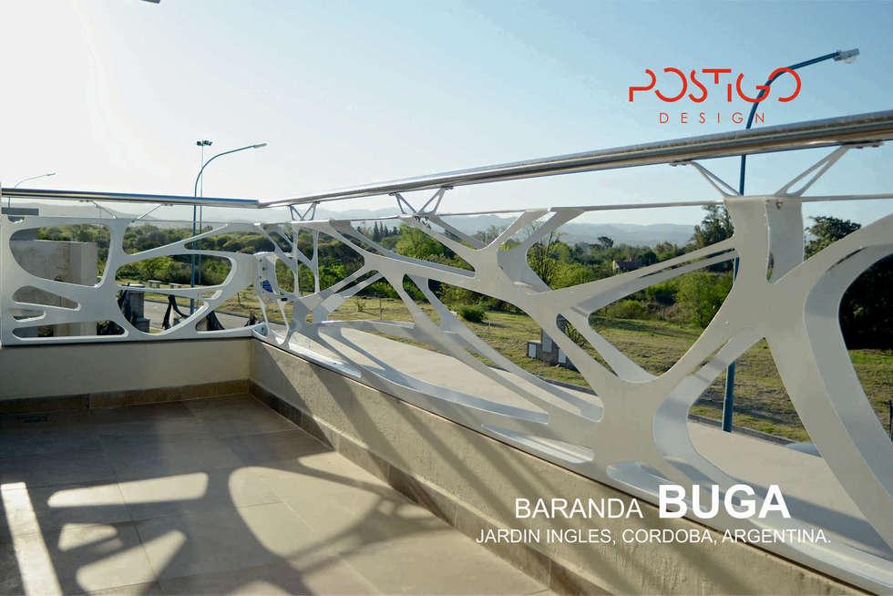 Baranda Buga: Casas de estilo moderno por Postigo design
