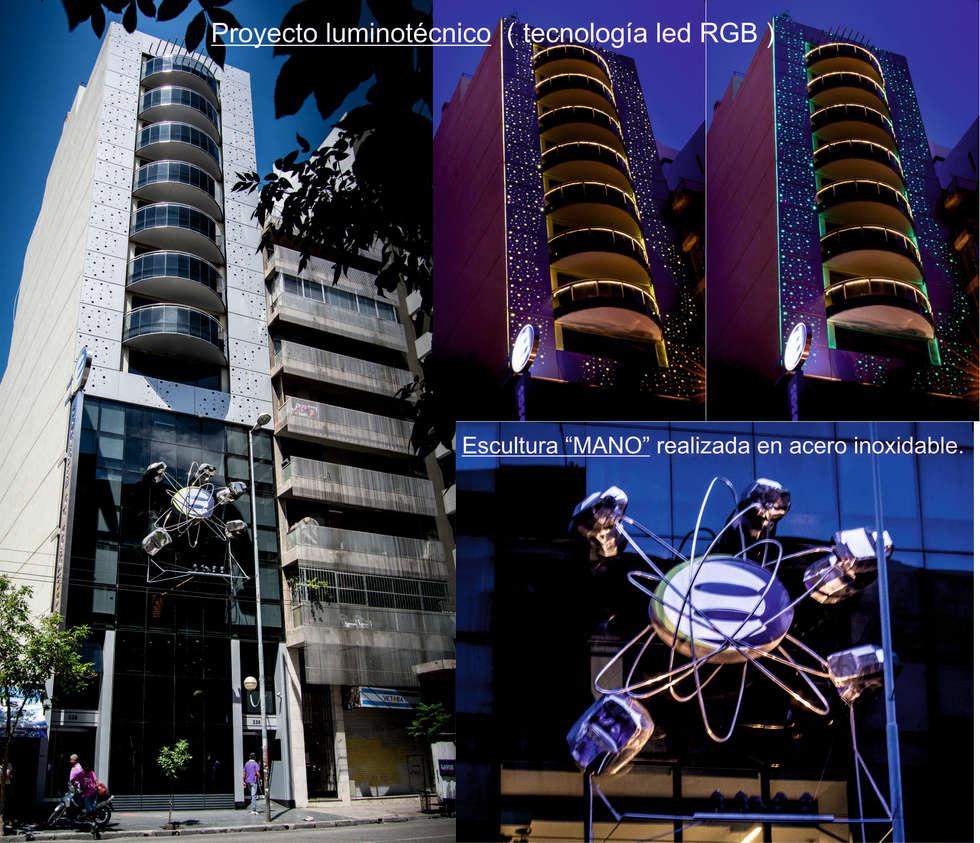 Proyecto luminotécnico: Casas de estilo moderno por Postigo design