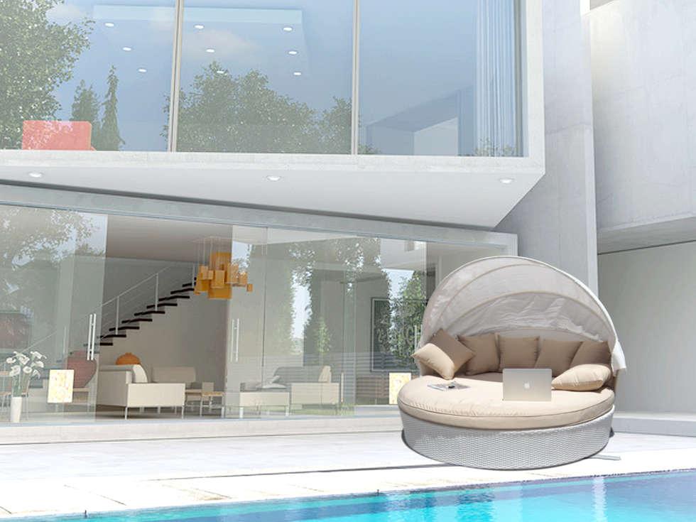 foto di balcone, veranda & terrazzo in stile : divano per esterno ... - Divano Per Veranda
