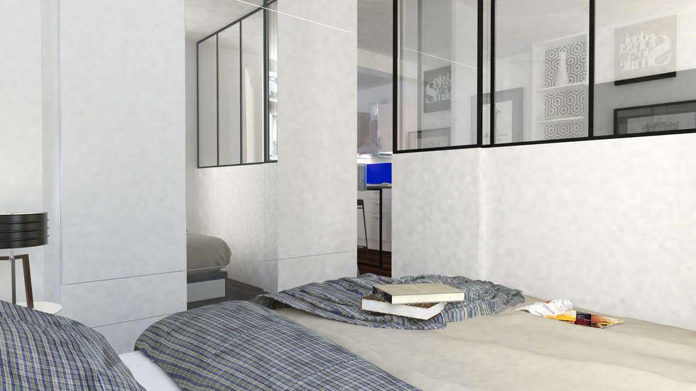 Appartement Levallois: Chambre de style de style Moderne par Silvia Gianni