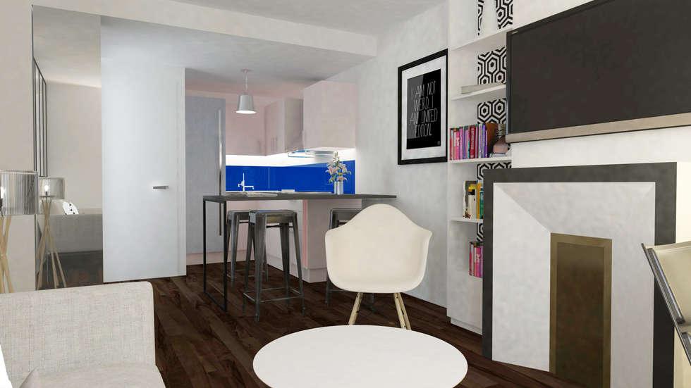 Appartement Levallois: Cuisine de style de style Moderne par Silvia Gianni