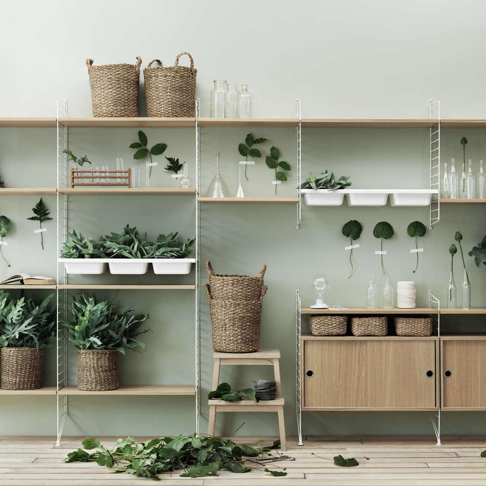 skandinavische wohnzimmer bilder: string – regalsystem   homify