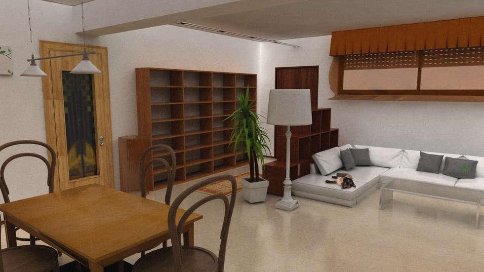 Vista dalla scala (ANTE-OPERAM): Ingresso & Corridoio in stile  di Architetti StudiOppure
