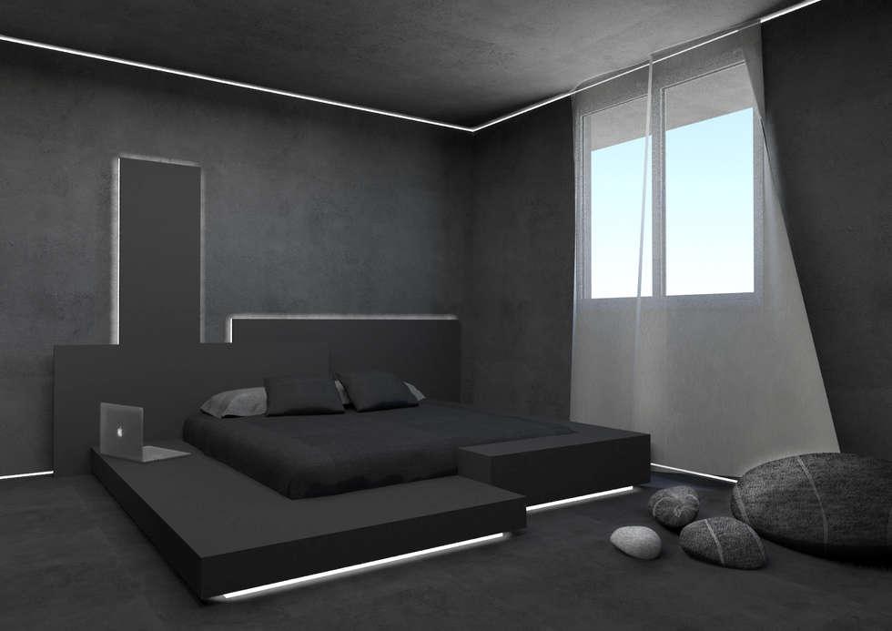 camera matrimoniale: Camera da letto in stile in stile Minimalista di Giemmecontract srl.