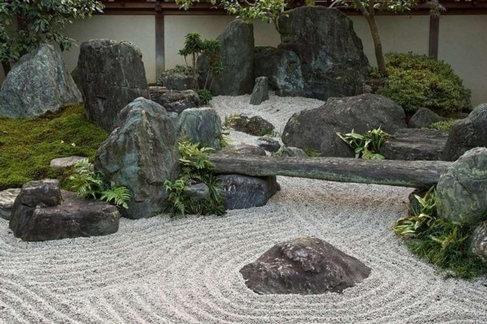 bitki dekor – Zen Bahçesi: minimal tarz tarz Bahçe