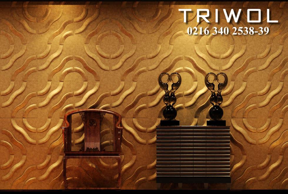 Group Enerji Yapı Dekorasyon – TRIWOL SAILING 3D DUVAR PANELİ:  tarz Duvarlar