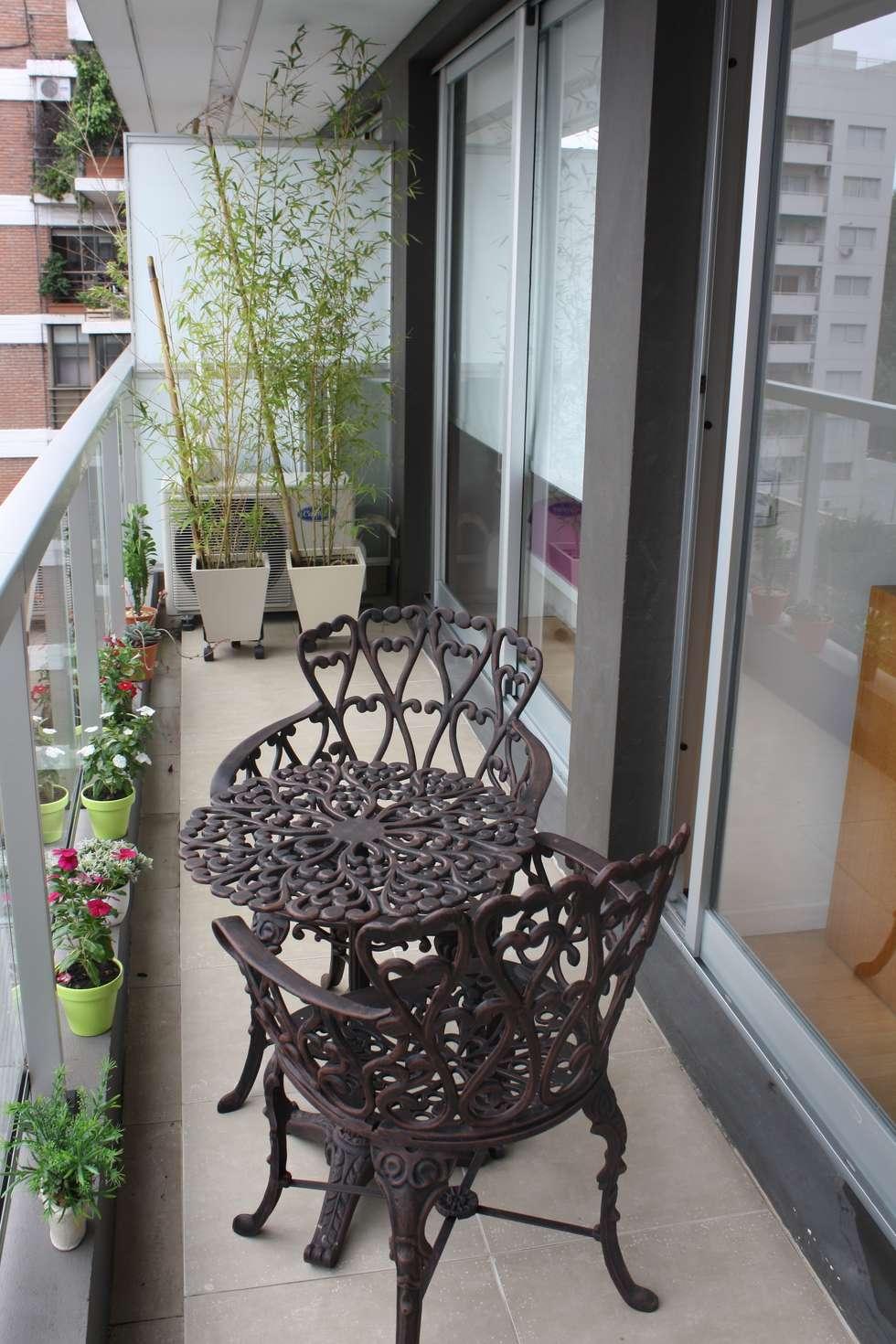 Dto. palermo: Terrazas de estilo  por Arquitectura Laura Napoli