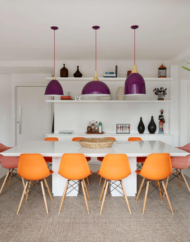 Comedores de estilo ecléctico por Duda Senna Arquitetura e Decoração