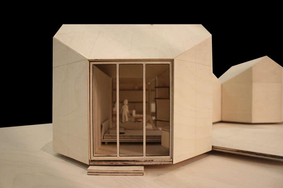 Octágono módulo base: Casas de estilo minimalista por Dellekamp Arquitectos