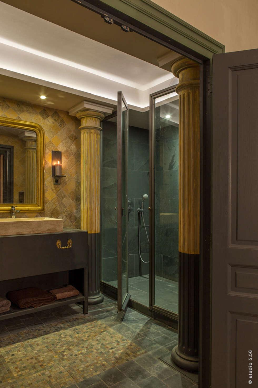 vue de la salle de bain . : Salle de bains de style  par hpm atelier