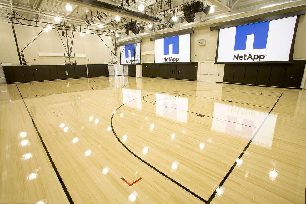 Group Enerji Yapı Dekorasyon – Doğal Renk Bambu Parke Basketball, voleyball spor sahaları zemin kaplamaları:  tarz Stadyumlar