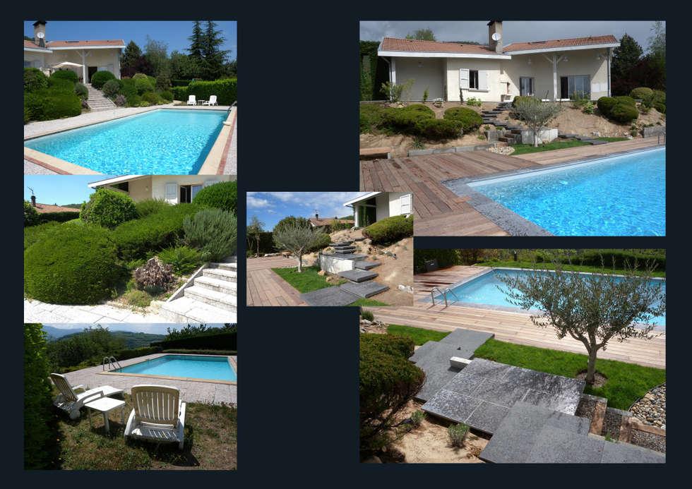 Jardin dans les Alpes: Jardin de style de style Moderne par I.D.E.E