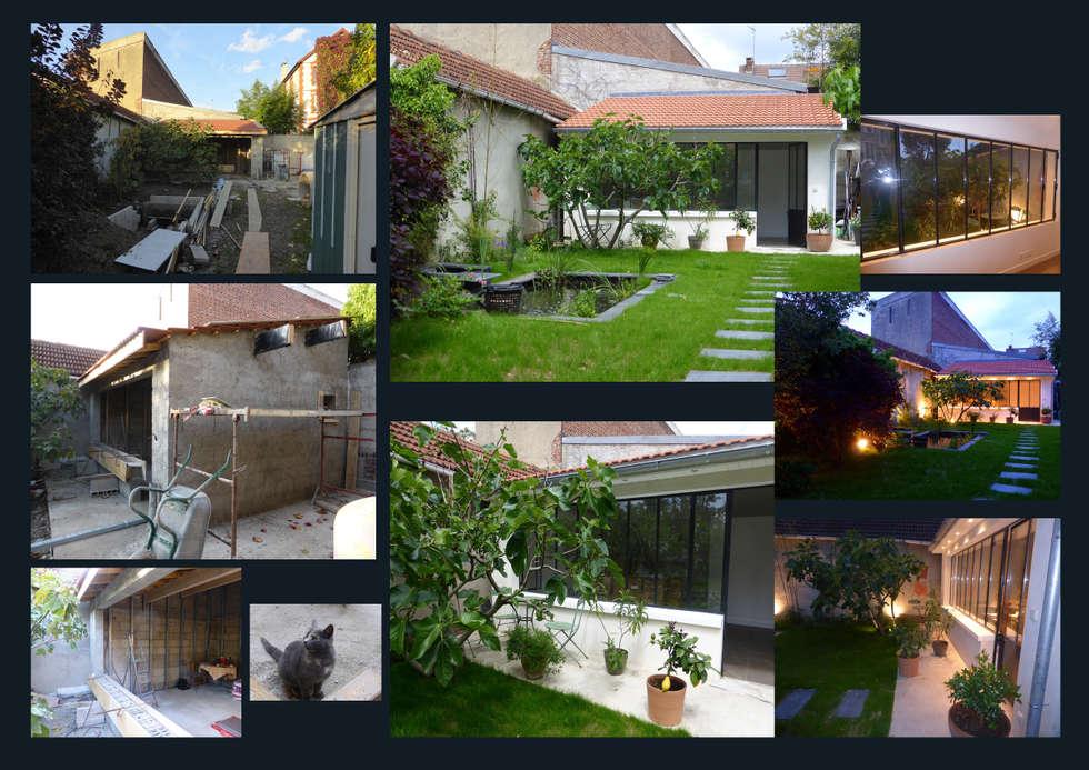 Atelier d'artiste de jour et de nuit.: Jardin de style de style Classique par I.D.E.E