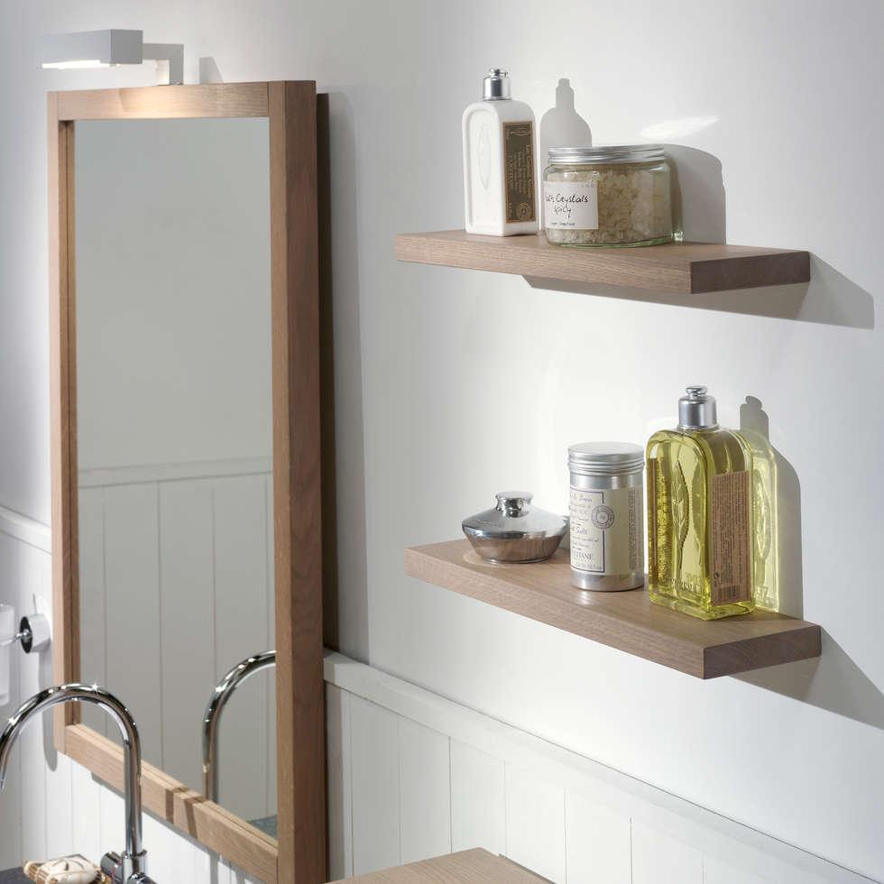 Skandinavische Badezimmer Bilder: Spiegel Und Wandborde Aus ... Skandinavische Badezimmer