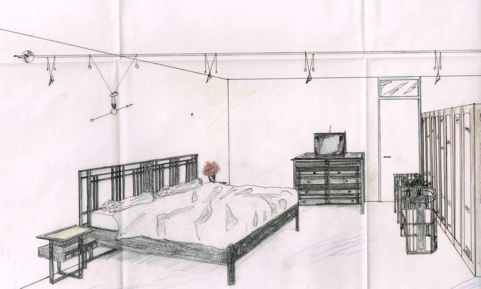Chambre des parents et dressing: Chambre de style de style Moderne par BasZ design