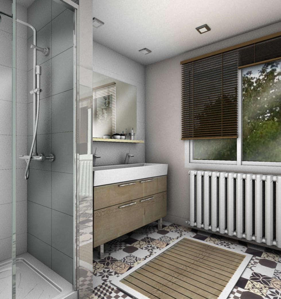 SALLE DE BAIN 2: Salle de bains de style  par PYXIS Home Design
