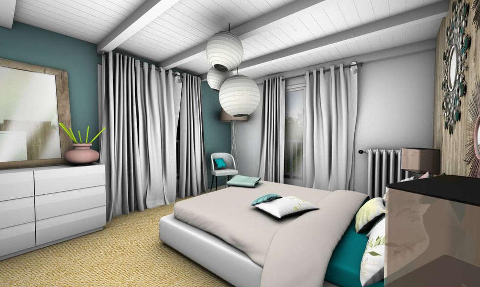 CHAMBRE 2: Chambre de style de style Scandinave par PYXIS Home Design