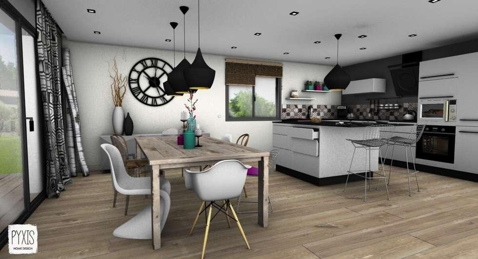 Espace repas: Salle à manger de style de style Scandinave par PYXIS Home Design